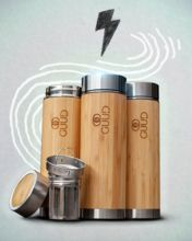Bamboo+Stainless Steel Insulated bottle keeps drinks hot/cold for Insulated Tumblers, Flask, Biodegradable Products, Bamboo, Cups, Water Bottle, Stainless Steel, Drinks, Hot