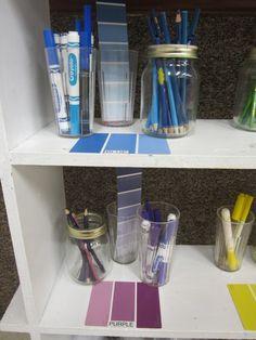 reggio environment- colors-organization