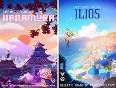 Overwatch Travel Posters