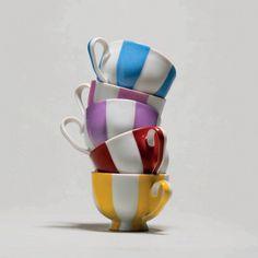 Art Déco coffee set by Augarten Porzelan Espresso Cups, Coffee Set, Shape Patterns, Color Splash, Tea Time, Dinnerware, Make It Simple, Create Yourself, Vintage Items