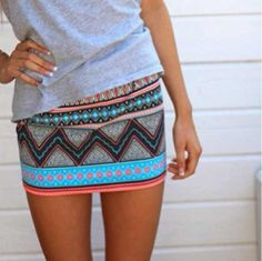 tribal skirts - just girly things Beauty And Fashion, Passion For Fashion, Love Fashion, Skirt Fashion, Tribal Fashion, Fashion Clothes, Teen Fashion, Fashion Tips, Aztec Skirt