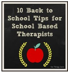 Pediatric Therapy Corner: 10 Back to School Tips for School Based Therapists-pinned by @PediaStaff – Please Visit ht.ly/63sNtfor all our pediatric therapy pins