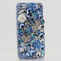 BlingAngels® 3D Luxury Bling iphone 5 5s Case Cover Faceplate Swarovski Crystals Diamond Sparkle bedazzled jeweled Design Back Snap-on Hard Case + Free Stylus and Water-Resistant Bag (100% Handcrafted by BlingAngels) (Blue Double Butterfly Design), http://www.amazon.com/dp/B00HYNCF3G/ref=cm_sw_r_pi_awdm_DrBXub00MGRV8