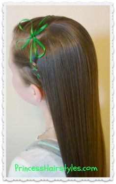 St. Patrick's Day hairstyle idea