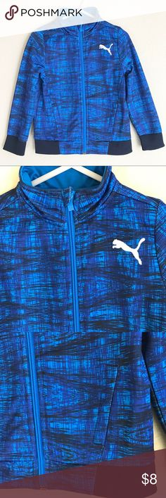 Puma jacket Blue and black Puma brand zip up jacket size 3t. Like new condition. Puma Jackets & Coats