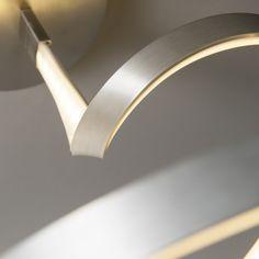 Plafón RIZO acero #iluminacon #decoracion #interiorismo