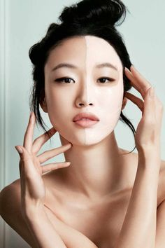 Sora Choi shows off mask from Dior's Hydra Line collection
