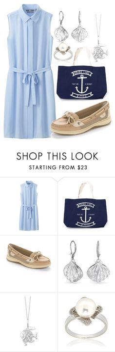 """""""Daughter of Poseidon Springtime"""" by peregrinetook ❤ liked on Polyvore featuring Uniqlo, Sperry, Bling Jewelry, Allurez, Pearlz Ocean, percyjackson, heroesofolympus and Spring2015"""