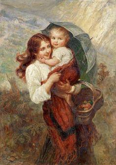 """Sunshine and Showers"" -- Frederick Morgan (British, 1847-1927)"
