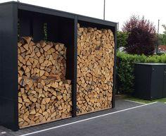 Outdoor Firewood Rack, Firewood Storage, Diy Jardin, Scandinavian Garden, Dutch House, Pallet House, Wood Shed, Beach House Decor, Backyard Landscaping