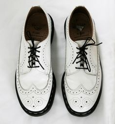 Rare Dr Martens White Wing Tip Brogues UK 7 US by VintageReBelle, $89.00