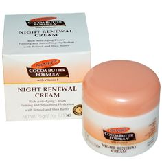 Palmer's, Cocoa Butter Formula, Night Renewal Cream, Fresh White Lily Fragrance