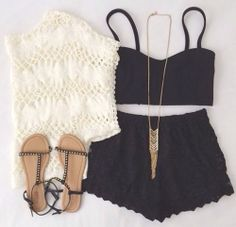 Lace short. Outfit Cheap rayban.$24.88 http://www.rbglasses-eshops.com