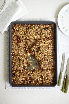 Coconut and Cranberry Flapjacks  Delicious flapjacks, treats for adults and lunchbox fillers for kids.