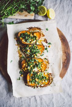 Roasted Sweet Poato with Chickpeas, Cilantro, and Feta festa;recipes with feta;spinach and feta; Healthy Recipes, Vegetable Recipes, Whole Food Recipes, Vegetarian Recipes, Cooking Recipes, Cheese Recipes, Chicken Recipes, Greek Recipes, Sweet Potatoe Bites