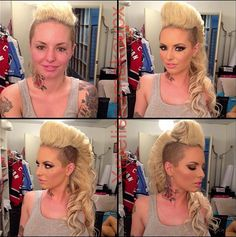 Porn Star Christy Mack Without Makeup   Make up artist Melissa Murphy . I have both sides of my head shaved, really want to try doing my hair like this