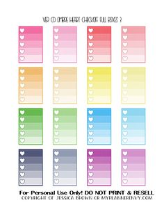 Free Printable Ombre Heart Checkoff Full Boxes 3 of 3 for the Vertical Carpe Diem Planner Inserts from myplannerenvy.com