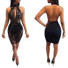 0c17619d 13 Best black bodycon dress images | Flawless Makeup, Beauty makeup ...