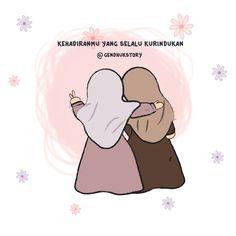 Sahabat Cute Cartoon Drawings, Cartoon Art, U Made My Day, Hijab Drawing, Doodle Girl, Islamic Cartoon, Anime Muslim, Hijab Cartoon, Islamic Quotes Wallpaper