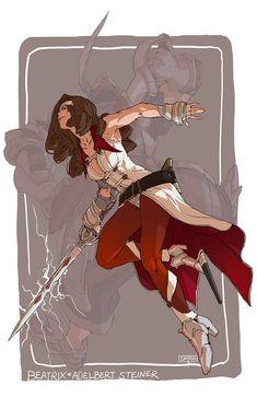 Beatrix by tantaku on DeviantArt Female Character Design, Character Design References, Character Drawing, Character Design Inspiration, Character Concept, Concept Art, Final Fantasy Ix, Fantasy Warrior, Dnd Characters