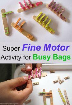 Super Fine Motor Activity for Busy Bags // actividad de motricidad fina