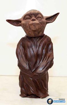 Pin Chocolate Sculpture Of Yoda Hilarioustimecom Cake on Pinterest