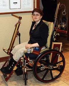 Steampunk Wheelchair - that's awesome.
