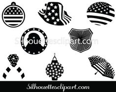 Celebrate this independence day with much celebration. Get this July Decorations Silhouette vectors ideal for July vector illustrations. Silhouette Clip Art, Famous Landmarks, July 4th, Vector Graphics, Vector Design, Independence Day, Decorations, Templates, Make It Yourself