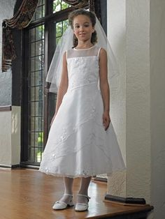 Buy 2013 Stunning A-line Custom Cheap Ankle Length First Communion Dress (BSFCD-041) Online Cheap Prices