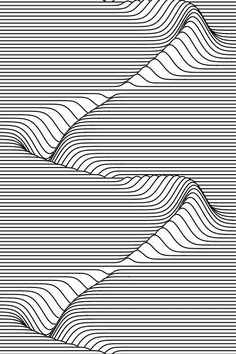 scrolling sine wave peak valley illusion p.s. Animated GIF click through to view!
