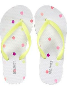 f23f7f9e8eaa Girls Printed Flip-Flops Old Navy Girls