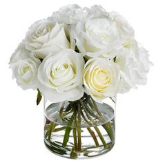 Diane James Home Classic White Rose Bouquet