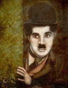 Charlie Chaplin Portrait by on DeviantArt Charly Chaplin, Charles Spencer, My Prince Charming, Silent Film, Funny People, Filmmaking, Deviantart, Portrait, Cinema