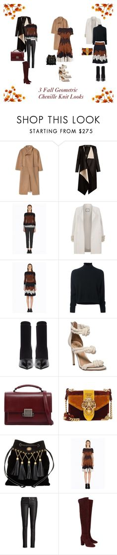 """""""3 Fall Geometric Chenille Knit Looks"""" by yigal-azrouel-official ❤ liked on Polyvore featuring Roland Mouret, Max & Moi, Le Kasha, Balenciaga, Yves Saint Laurent, Prada, Miu Miu, Ralph Lauren, Aquazzura and YigalAzrouel"""