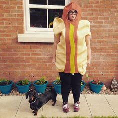 Pin for Later: Bite Me: 40+ Halloween Costumes Inspired by Your Favorite Foods Hot Dog(s)