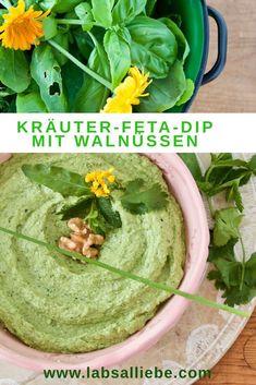 Sabzi Khordan Dip - Kräuter-Feta-Dip mit Walnüssen - Labsalliebe