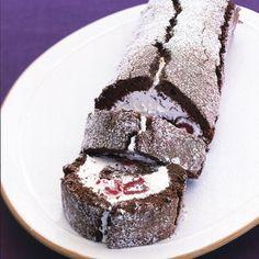 Chocolate Raspberry Fallen Soufflé Roll - GoodHousekeeping.com