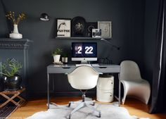 black walls + gray d