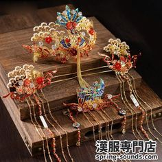 Hanfu, Bride Hair Accessories, Jewelry Accessories, Hair Jewelry, Fashion Jewelry, Hair Ornaments, Kimono Fashion, Hair Pins, Jewelry Collection