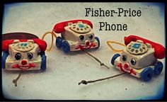 how to: miniature vintage Fisher-Price telephone