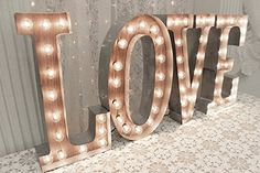 [gallery] Large Metal Letters Light - LOVE Marquee Letter Sign Wall Light - YOUR CHOICE OF 4 LETTERS or symbols A set of ANY 4 prime quality wooden mar ...