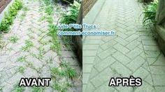 Marre d'acheter du RoundUp pour enlever les mauvaises herbes ? Vous avez bien raison ! Non seulement, ça coûte cher... ...mais en plus c'est mauvais pour votre santé et le jardin. Heureusement, ...