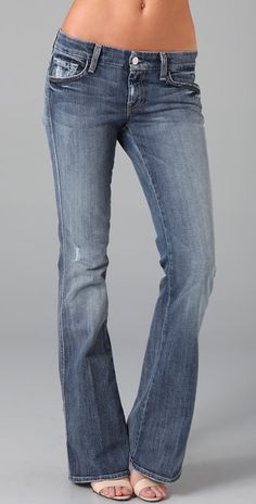 7 For All Mankind A Pocket Flare Jeans | SHOPBOP