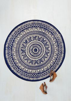 We All Have Apartment to Play Rug - Blue, White, Print, Boho, Better, Americana, Spring, Summer, Fall, Winter, Cotton