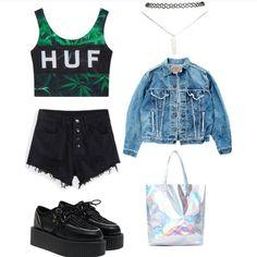 #grungestyle #grungeoutfit #rockstyle #drmartens #grungeinspiration #nirvana #rock #style #stylé #jadore #vetementsgrunge #mode #punk #rebel #hardrock #fashion #highheel #heel #tiktokgrunge #grungevideos #outfitvideos #stilegrunge #stilerock #estilorock #vestitidonna #abbigliamento #RockKleidung #grungestil #GrungeDeutschland #grungeespaña #rebelde #rebell #modagrunge Grunge Style, Grunge Girl, Girls Night Out Outfits, Girl Outfits, Grunge Outfits, Rock Style, Dr. Martens, Girls Bedroom, Bedroom Ideas