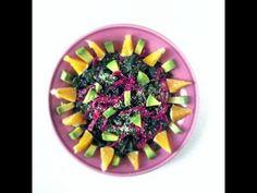 Sunburst Kale Salad - Raw Vegan Recipe