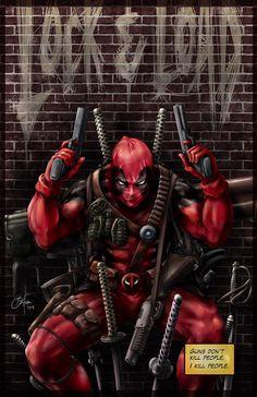 (Deadpool) By: Daniel Wong. Marvel Comic Character, Comic Book Characters, Comic Book Heroes, Marvel Characters, Comic Books Art, Deadpool Und Spiderman, Deadpool Love, Deadpool Art, Deadpool Wallpaper