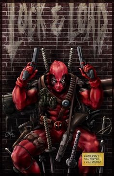 Deadpool - #Deadpool #Fan #Art. (Deadpool) By: Daniel Wong... °°