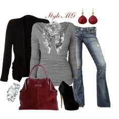 """Ravishing in Red accents"" by romigr99 on Polyvore"