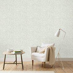 Tapete Blätter-Ranken DIANA grau-beige von Sandberg